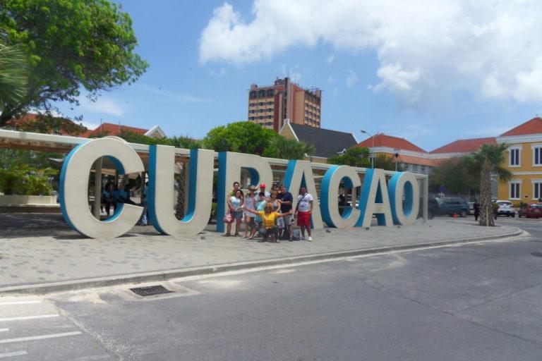 Big Curacao signs in Punda Area