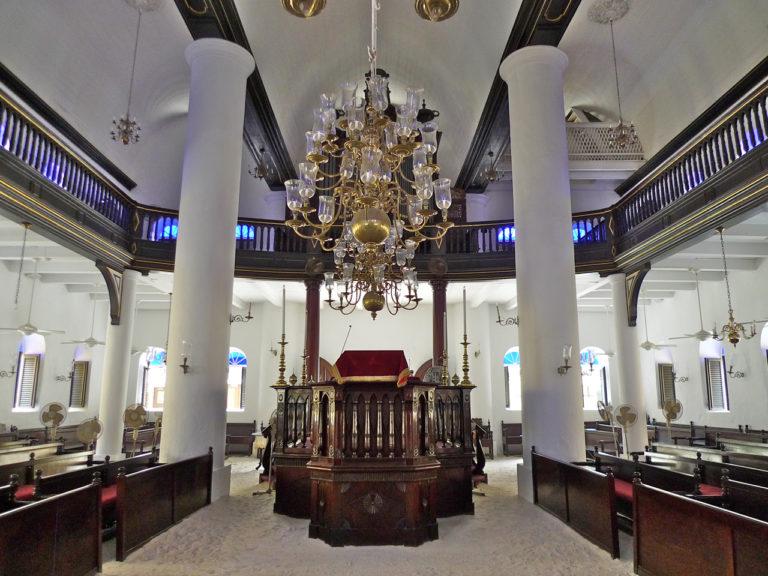 Inside Mikvé Israel-Emanuel Synagogue